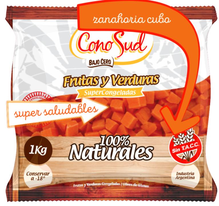 Zanahoria en cubos IQF por 1 kg