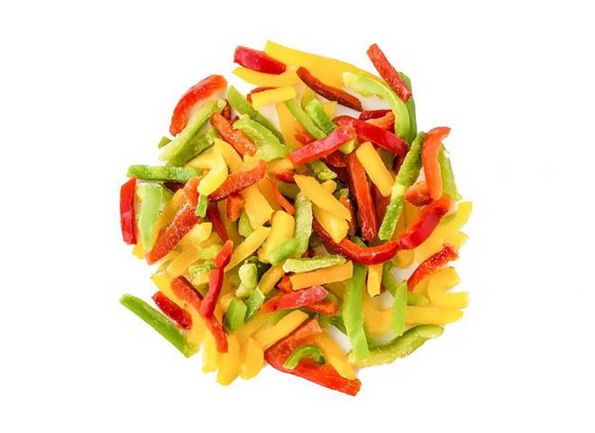 Pimiento tricolor en juliana por 1 kg