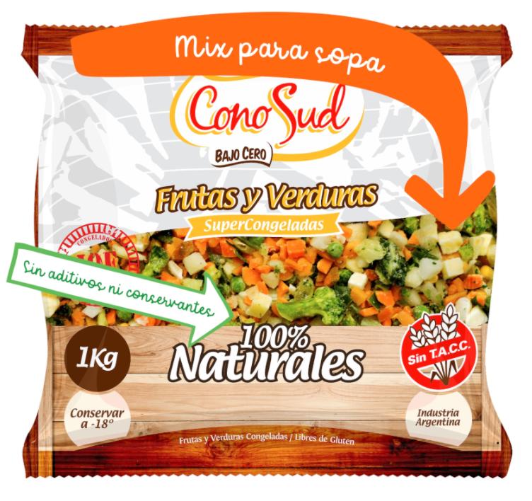 Sopa de vegetales IQF por 1 kg